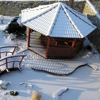 Zamrznutá hladina na záhradnom jazierku môže znamenať problém